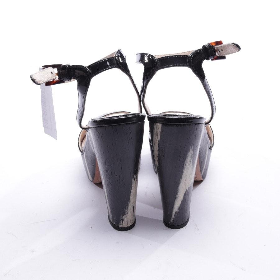 Sandaletten von Prada in Schwarz und Weiß Gr. EUR 38