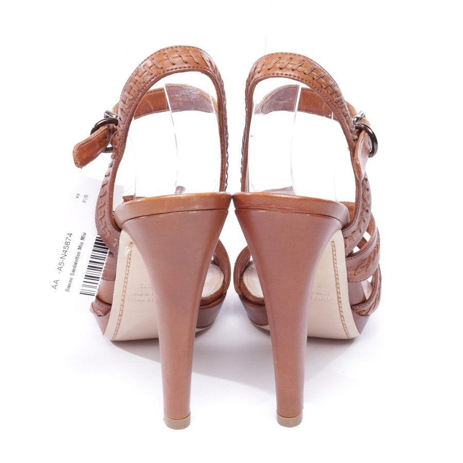 heeled sandals from Miu Miu in cognac size EUR 39,5 - new