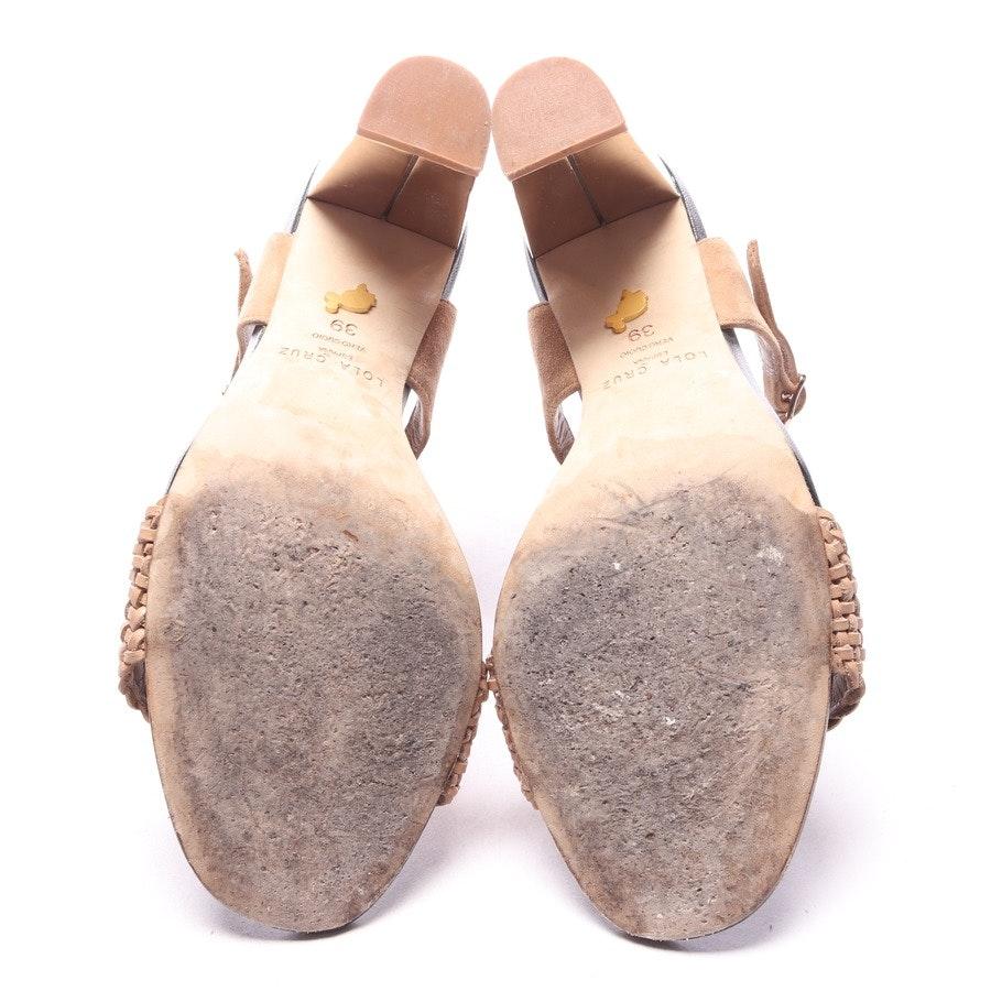 Sandaletten von Lola Cruz in Beigebraun Gr. EUR 39