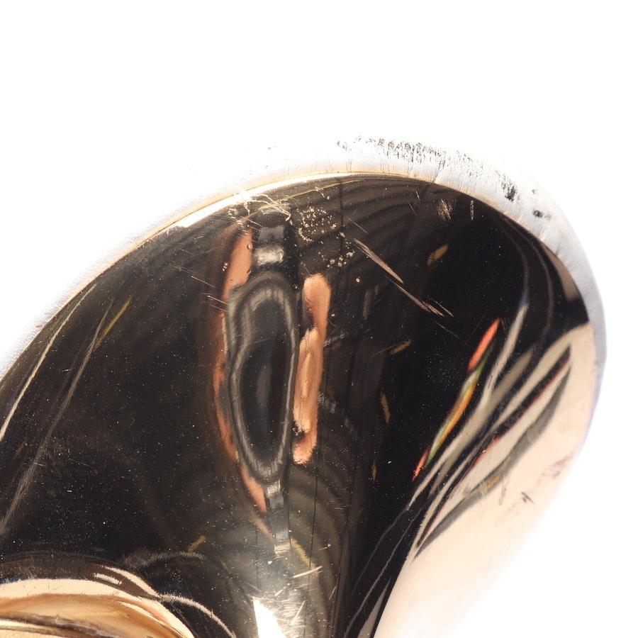 Sandaletten von Céline in Weiß und Gold Gr. EUR 41