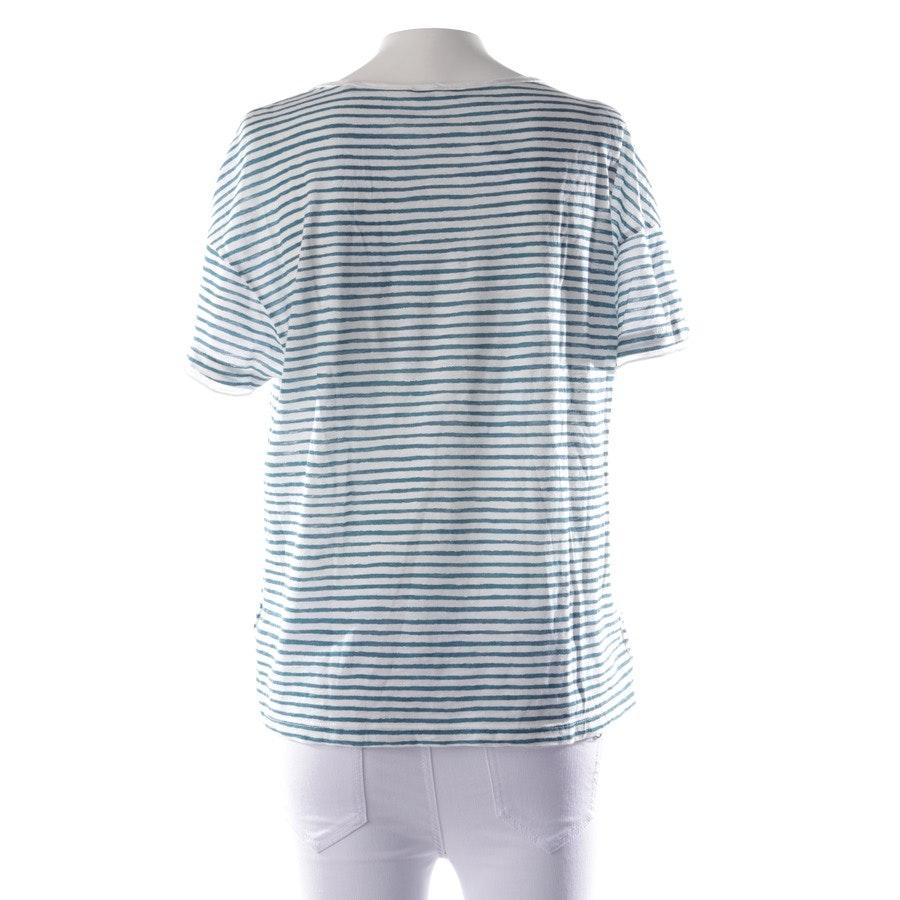 Shirt von Marc O'Polo in Weiß und Türkis Gr. XS