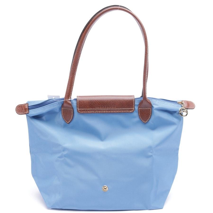 Handtasche von Longchamp in Blau und Braun - Le Pliage M