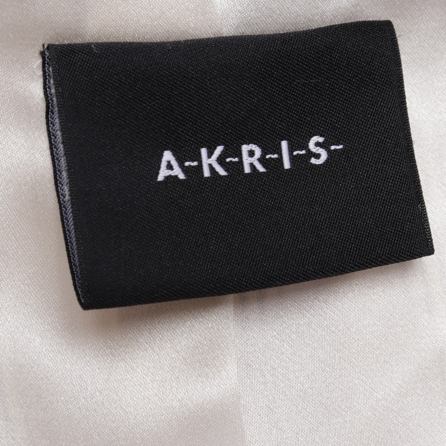 Seidenblazer von Akris in Dunkelblau und Weiß Gr. 40