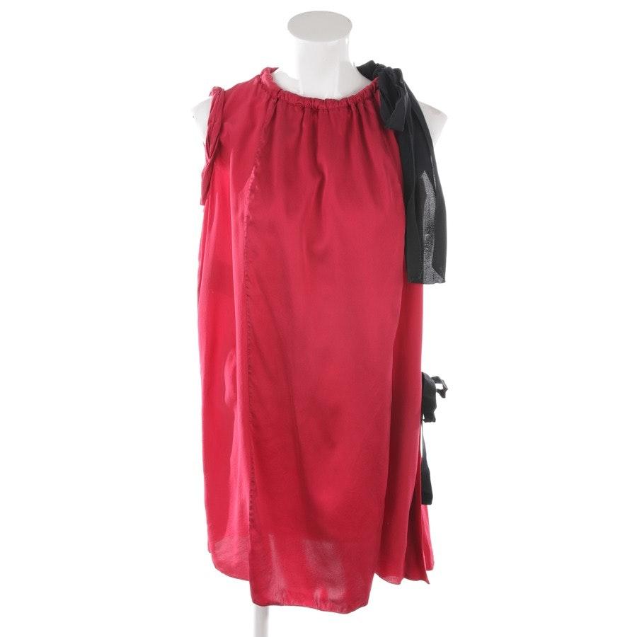 Seidenkleid von Prada in Rot und Schwarz Gr. 36 IT 42