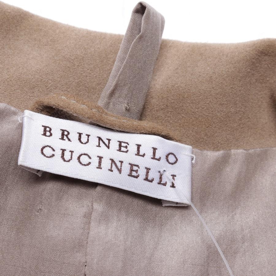 Lederblazer von Brunello Cucinelli in Braun Gr. 34 IT 40