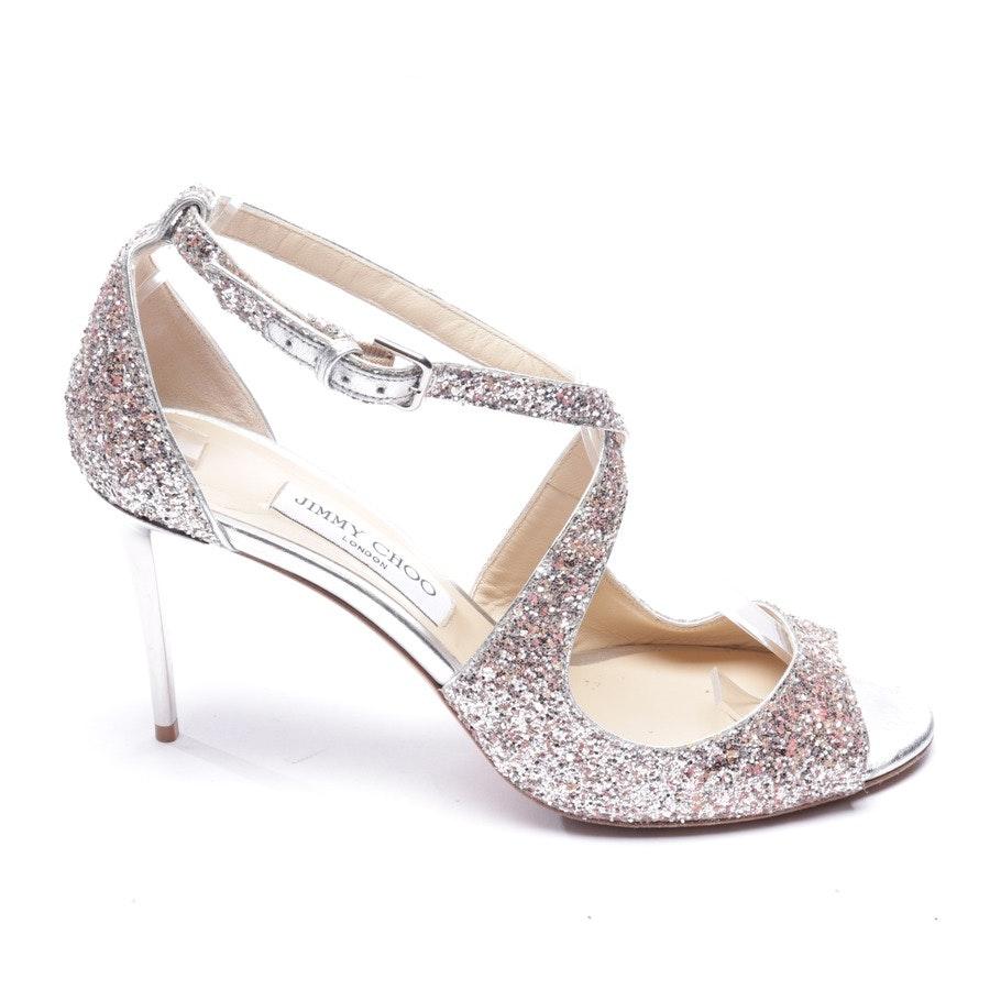 Sandaletten von Jimmy Choo in Silber Gr. EUR 40,5