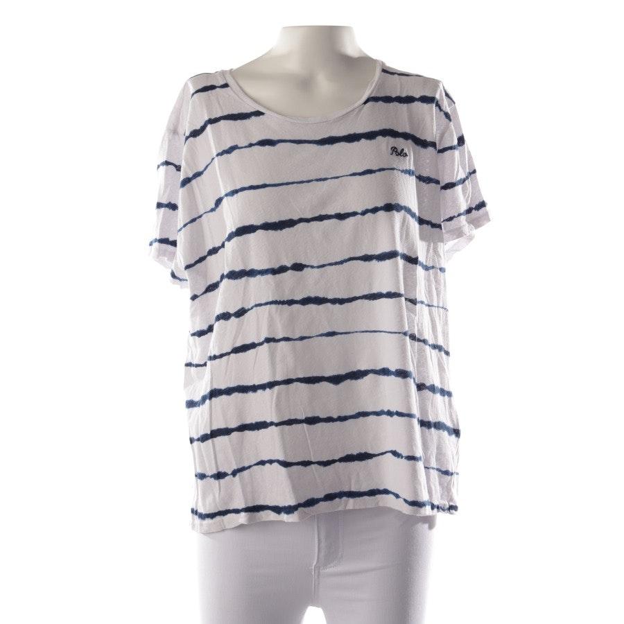 Shirt von Polo Ralph Lauren in Weiß und Blau Gr. XL