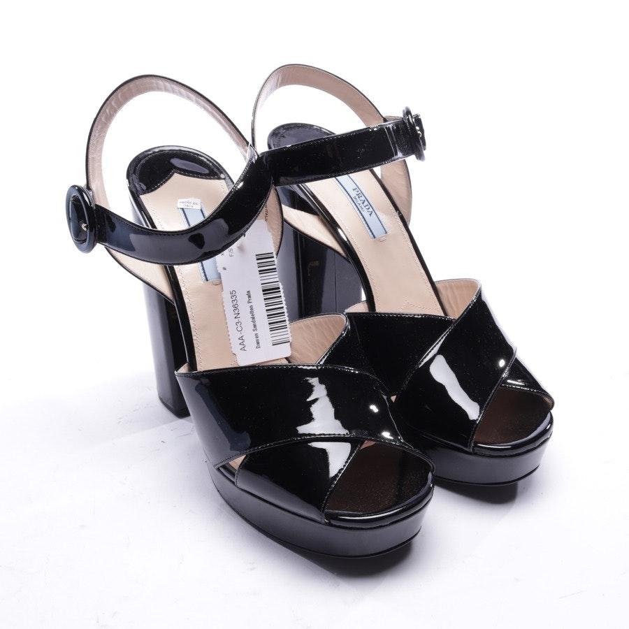 Sandaletten von Prada in Schwarz Gr. EUR 39,5 - Neu