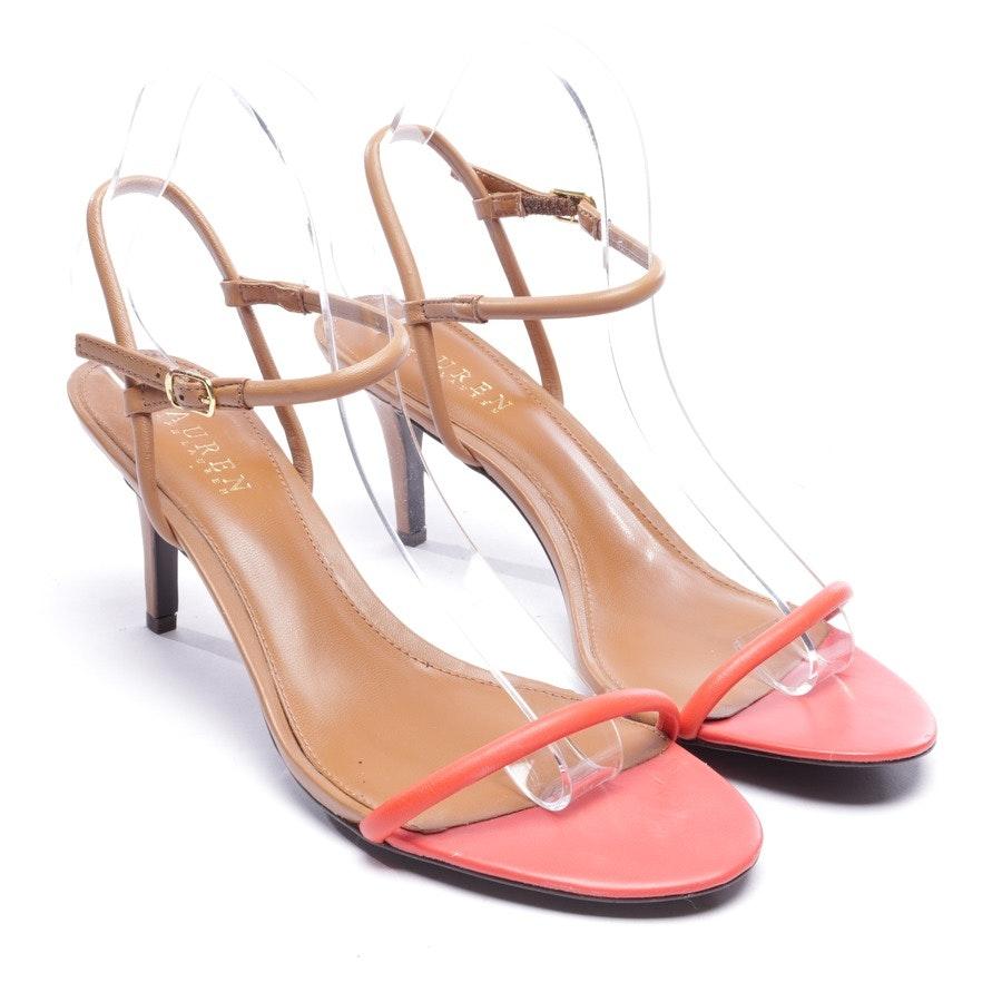 Sandaletten von Lauren Ralph Lauren in Rot und Braun Gr. EUR 40,5 US 9 - Neu