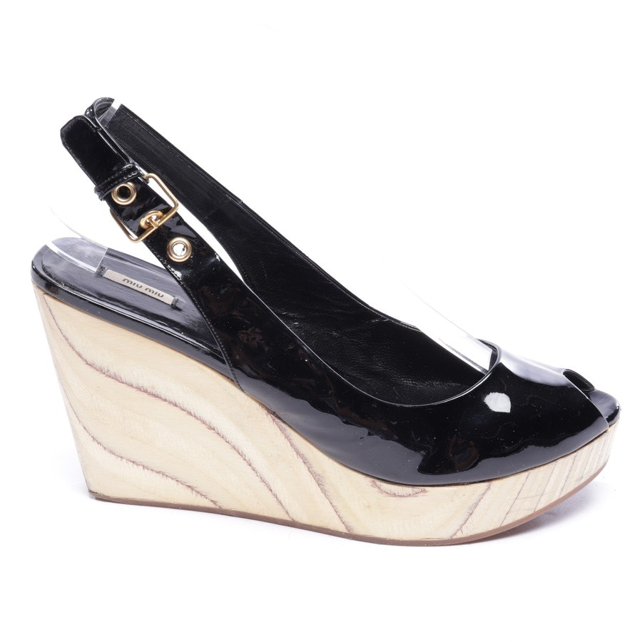 heeled sandals from Miu Miu in black size EUR 39