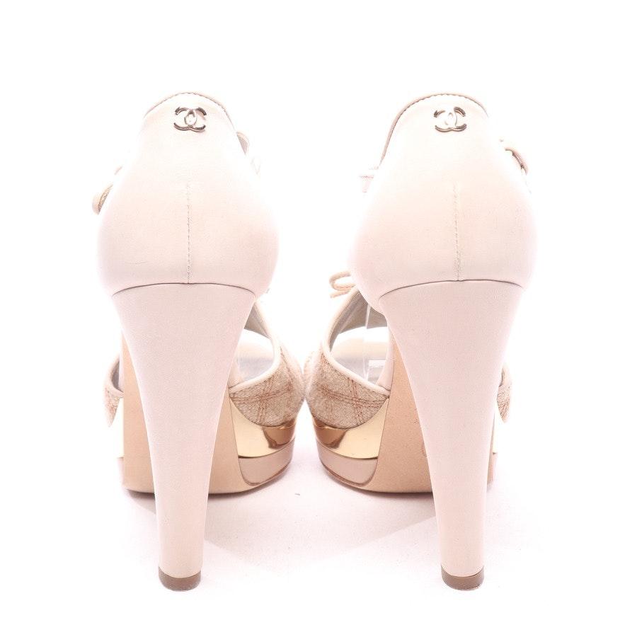 Sandaletten von Chanel in Beigegrau und Braun Gr. EUR 36,5