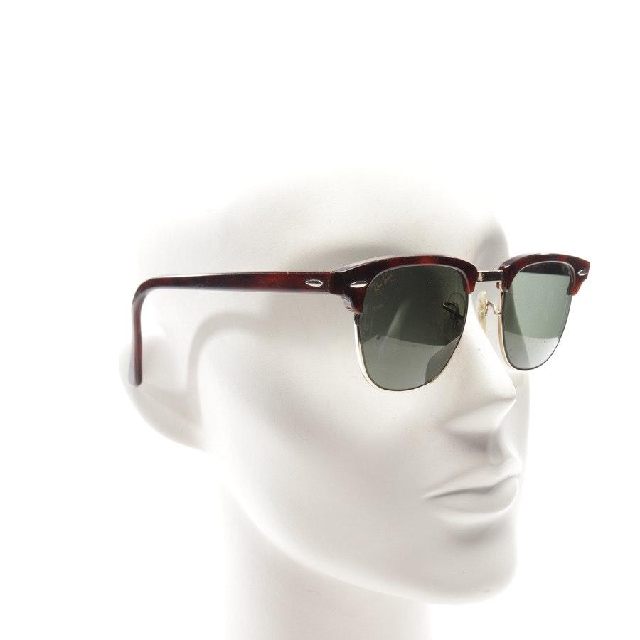 Sonnenbrille von Ray Ban in Rotbraun und Gold - New Clubmaster