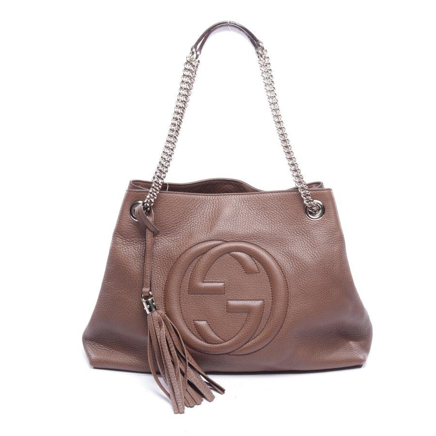 Schultertasche von Gucci in Taupe - Soho Tote