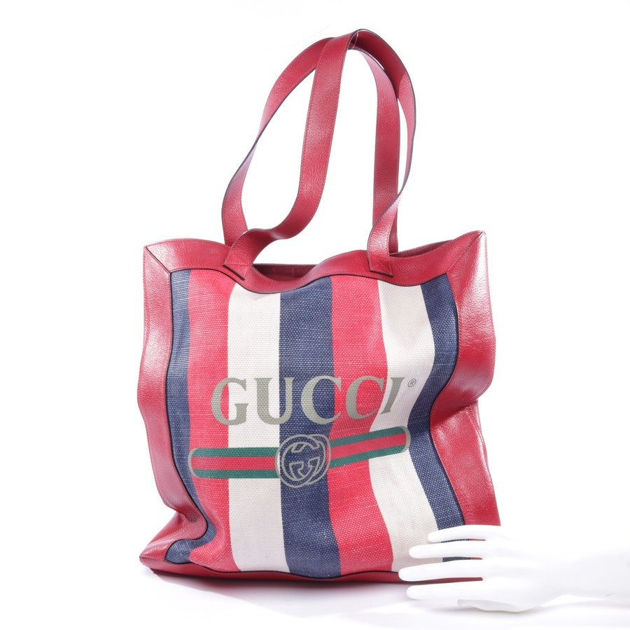 shopper from Gucci in ruby red and multi-coloured