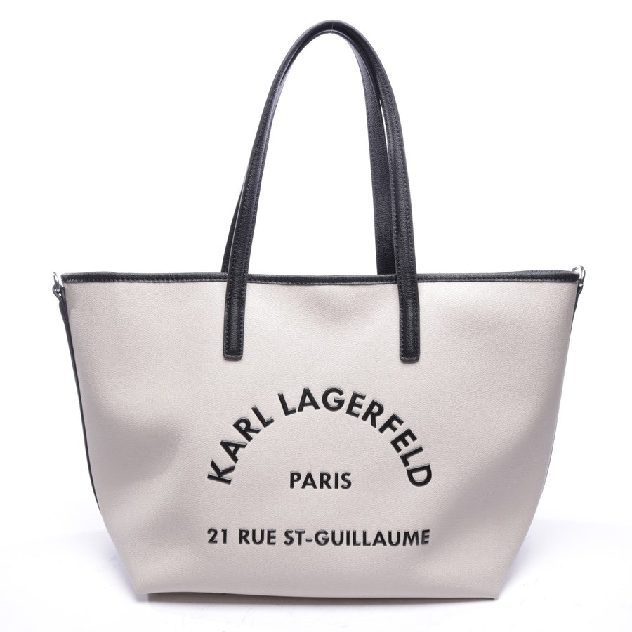 shopper from Karl Lagerfeld in green and black
