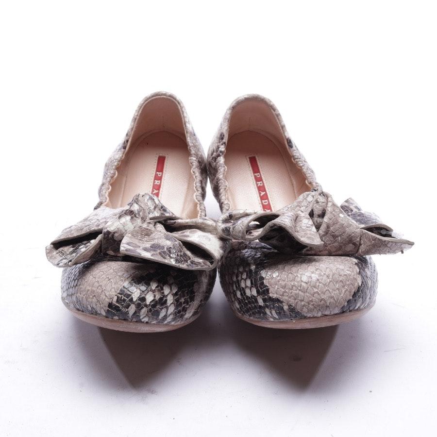 Ballerinas von Prada Linea Rossa in Grau und Schwarz Gr. EUR 37