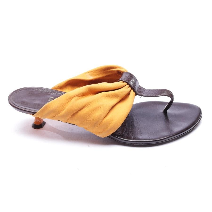 Sandaletten von Salvatore Ferragamo in Gelb Gr. EUR 38 US 7,5