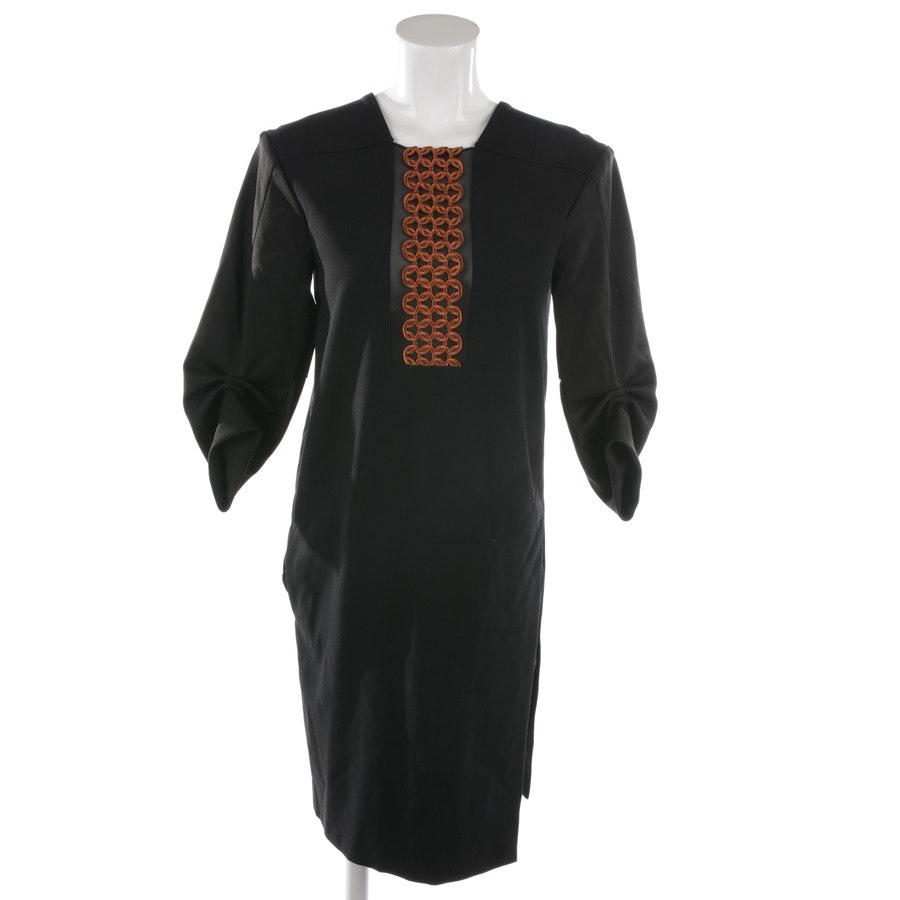 Kleid von Schumacher in Kupfer und Schwarz Gr. 36 / 2
