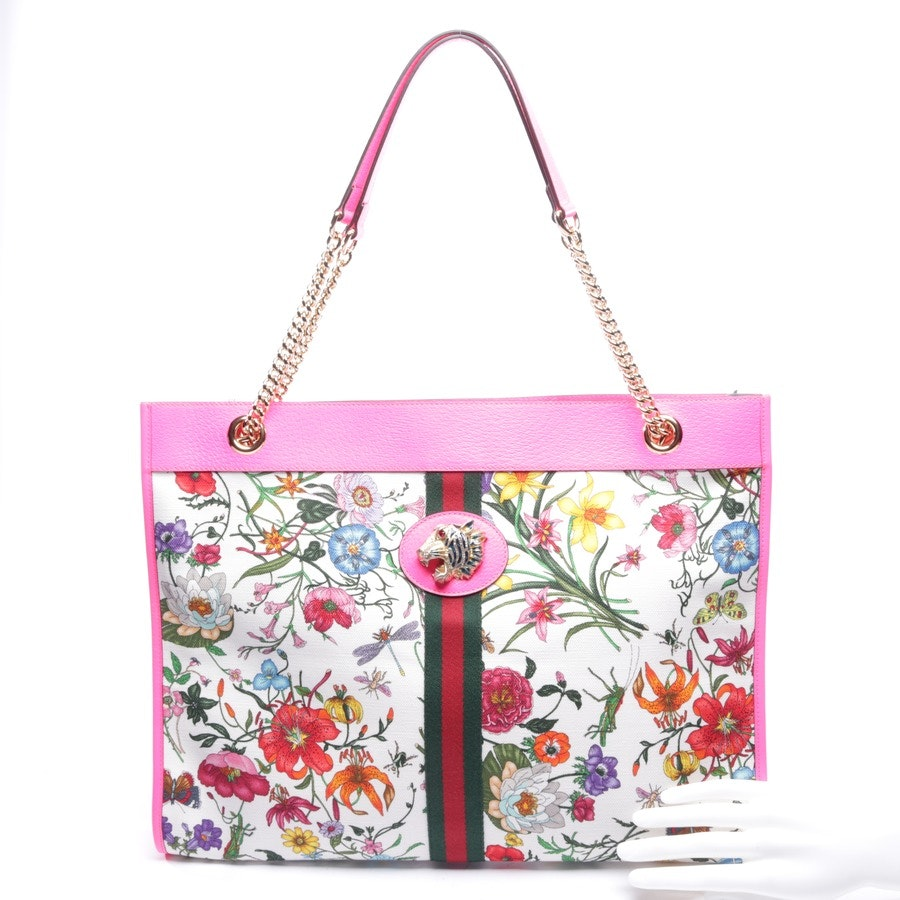 shopper from Gucci in neon pink and multicoloured - new - rajah