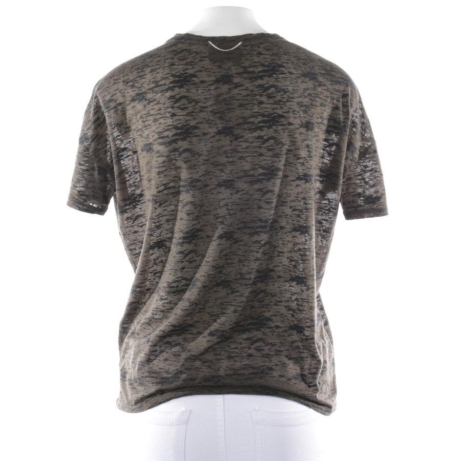 T-Shirt von The Kooples Sport in Olivgrün und Schwarz Gr. S