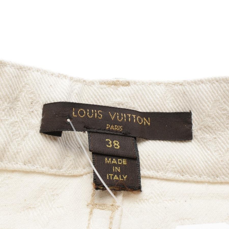 Jeansrock von Louis Vuitton in Creme Gr. 36 FR 38