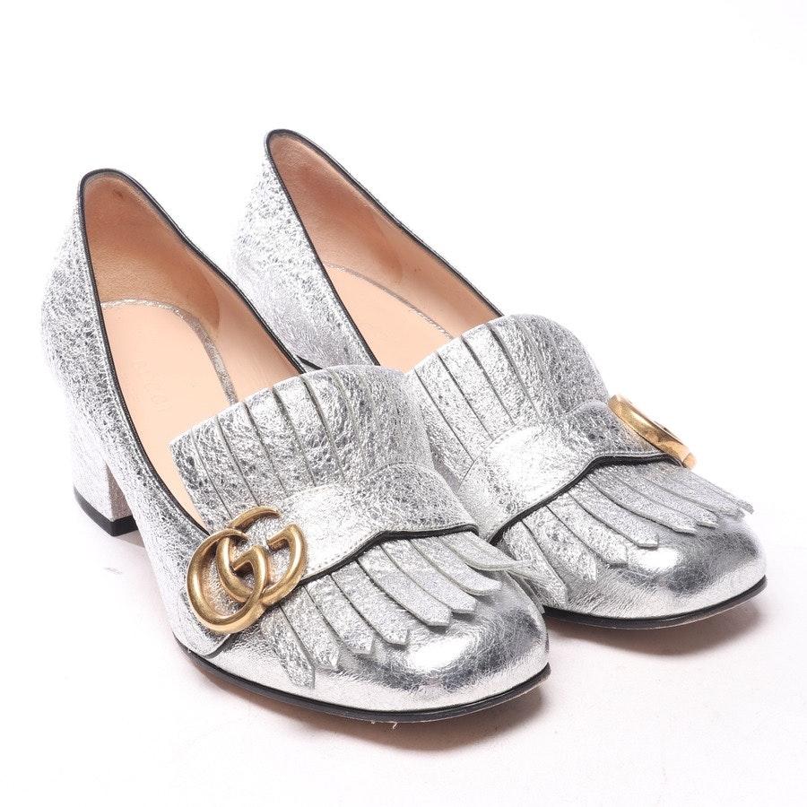 Pumps von Gucci in Silber Gr. EUR 37,5 - Marmont