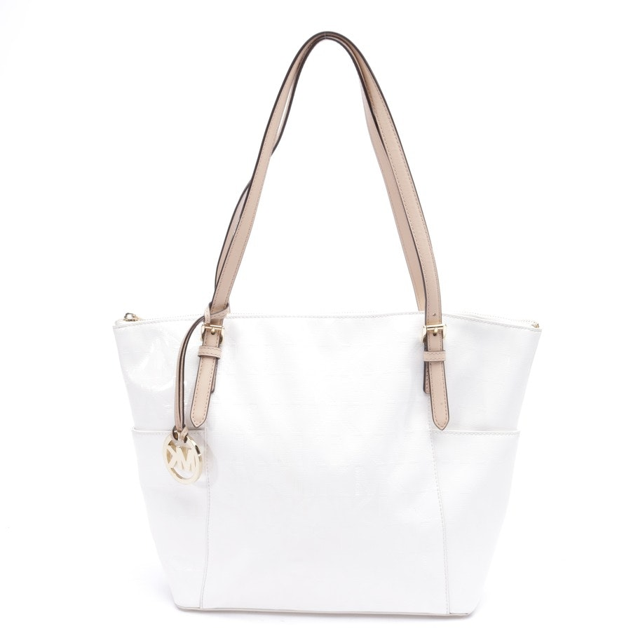 shopper from Michael Kors in offwhite and pink - jet set
