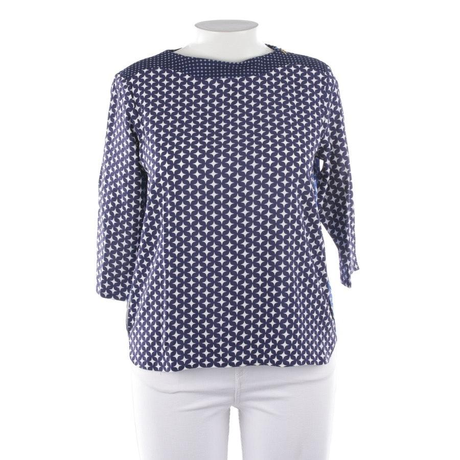 Bluse von Bogner in Nachtblau und Weiß Gr. 40