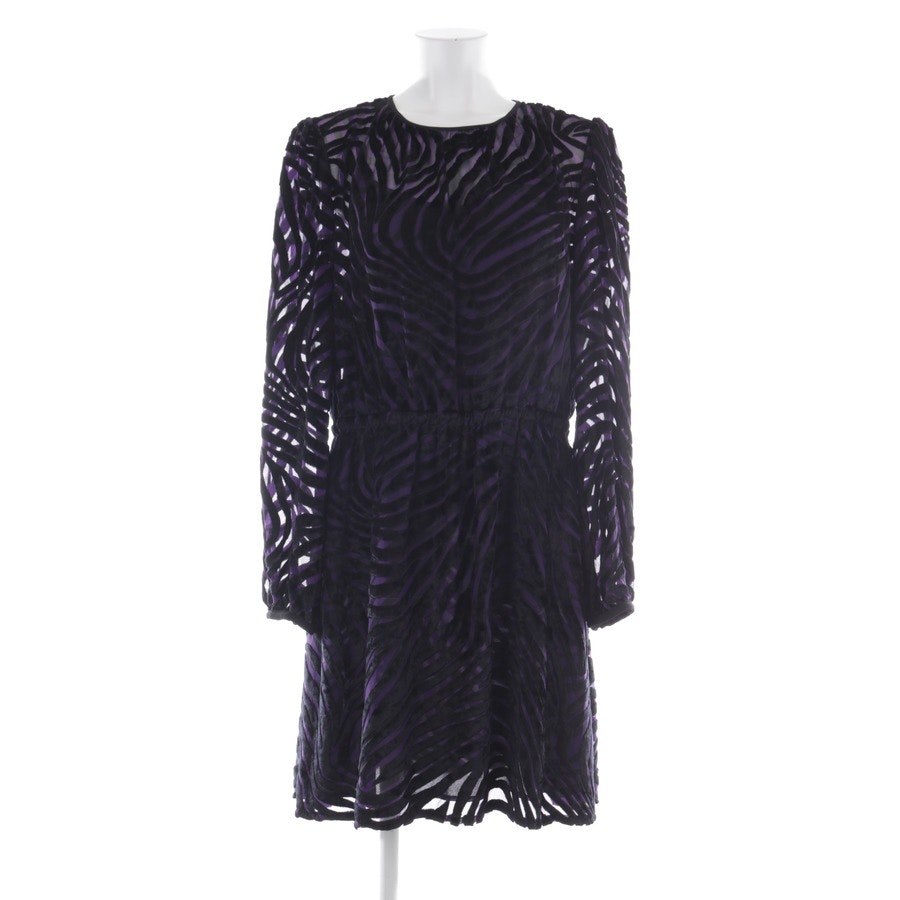 Kleid von Michael Kors in Violett und Schwarz Gr. L - Neu