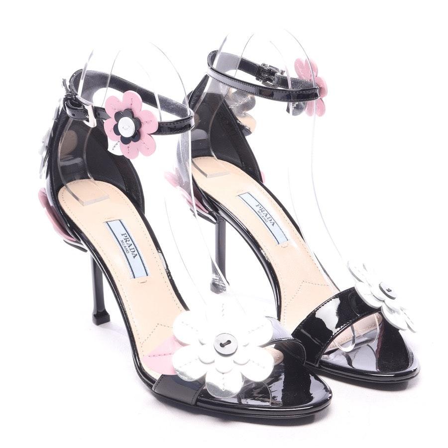Sandaletten von Prada in Schwarz und Silber Gr. EUR 37 - Neu