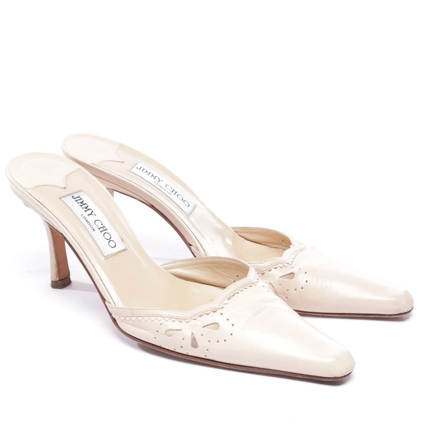heeled sandals from Jimmy Choo in cream size EUR 37,5