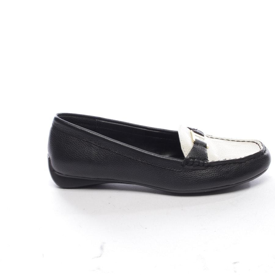 Loafers von Lauren Ralph Lauren in Schwarz und Beige Gr. EUR 38 US 7