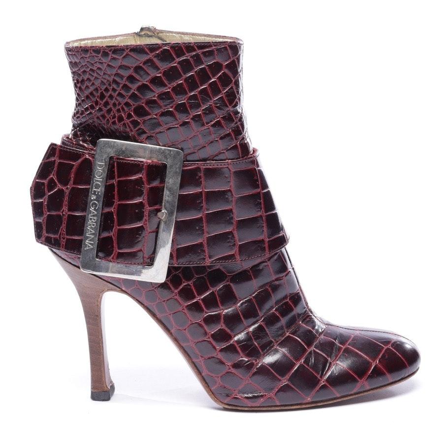 Stiefeletten von Dolce & Gabbana in Bordeaux Gr. EUR 37