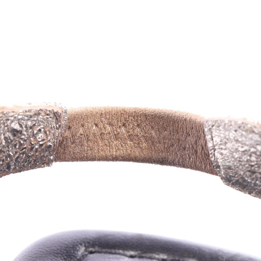 flat sandals from AGL Attilio Giusti Leombruni in black and silver size EUR 40