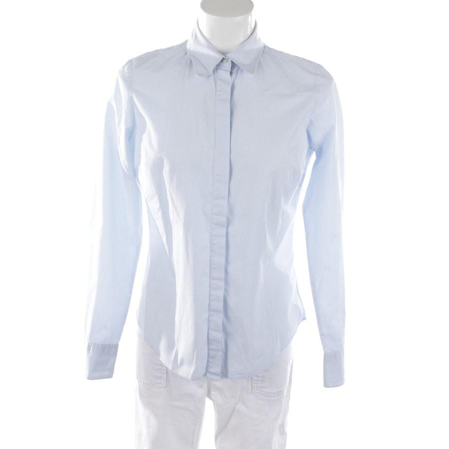 Bluse von Tommy Hilfiger in Hellblau und Weiß Gr. 38 US 8
