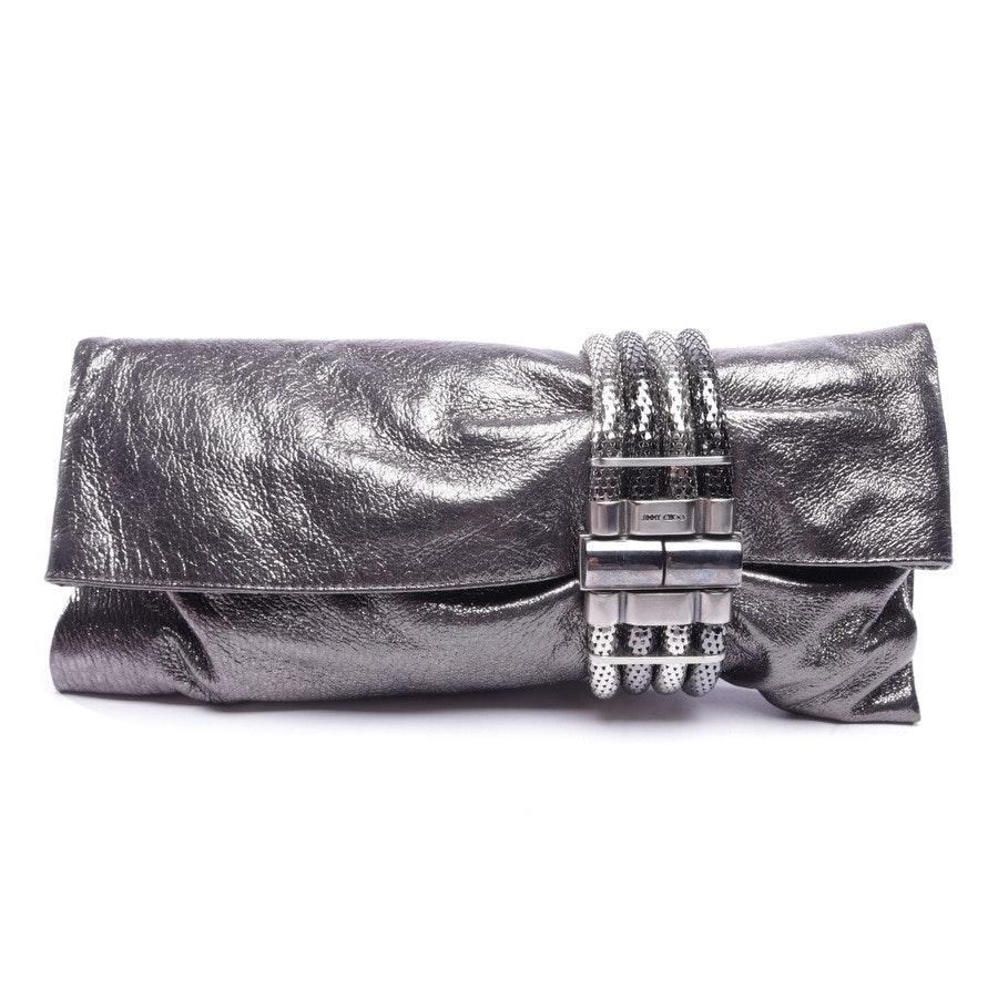 Clutch von Jimmy Choo in Silber und Schwarz