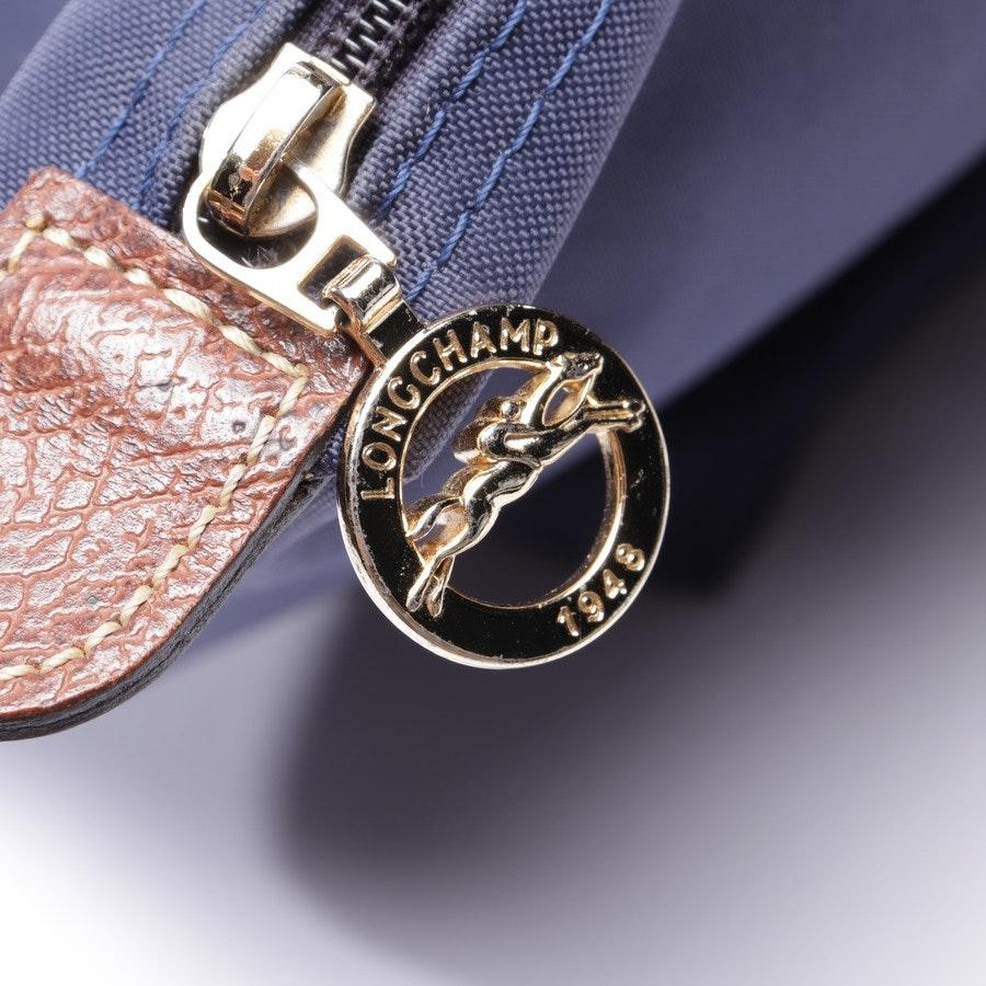 Schultertasche von Longchamp in Blau und Braun - Le Pliage Shopping L