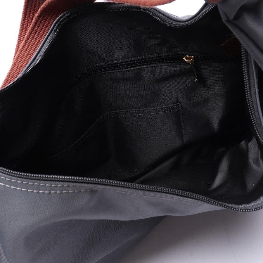 shoulder bag from Longchamp in granite and brown
