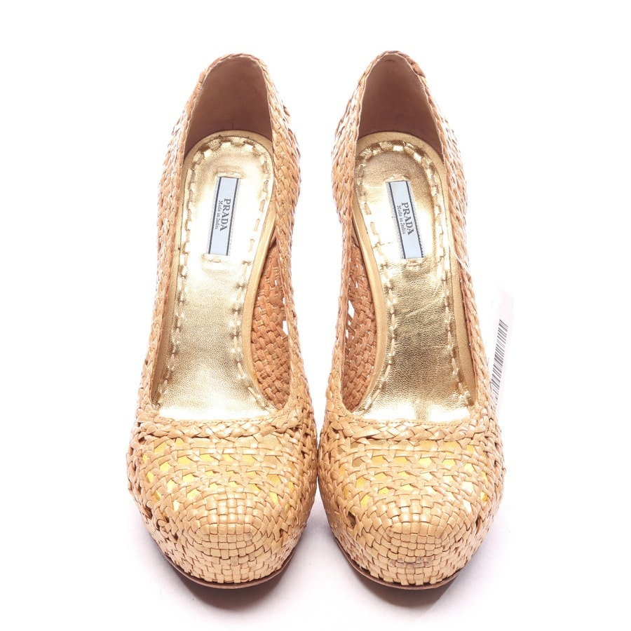 pumps from Prada in gold size EUR 39