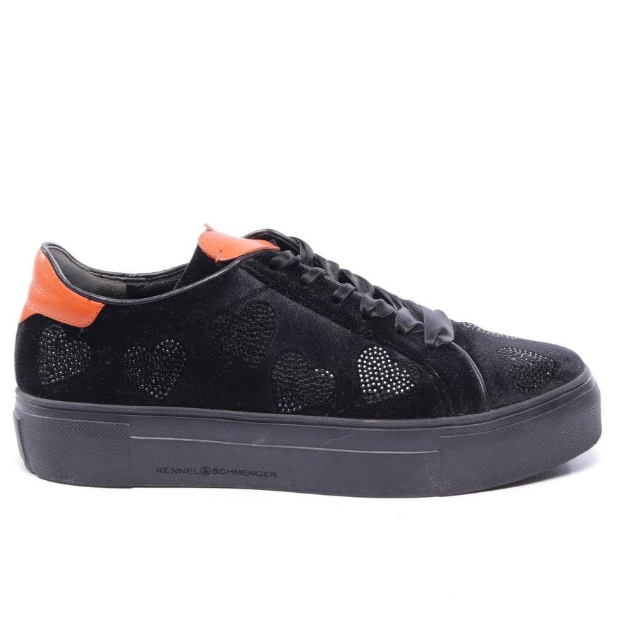 Sneaker von Kennel & Schmenger in Schwarz und Orange Gr. EUR 40 UK 6,5