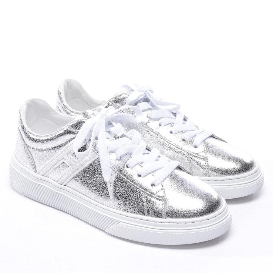 Sneaker von Hogan in Silber und Weiß Gr. EUR 36