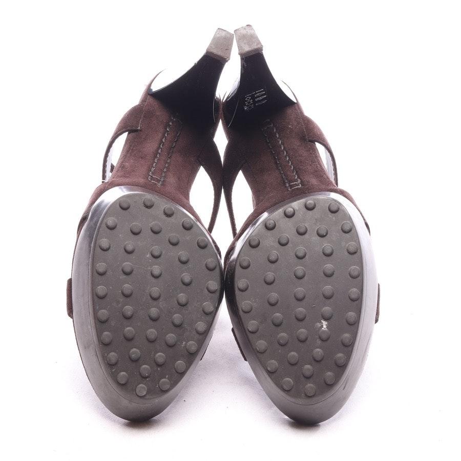 Sandaletten von Tod´s in Dunkelbraun Gr. EUR 38,5