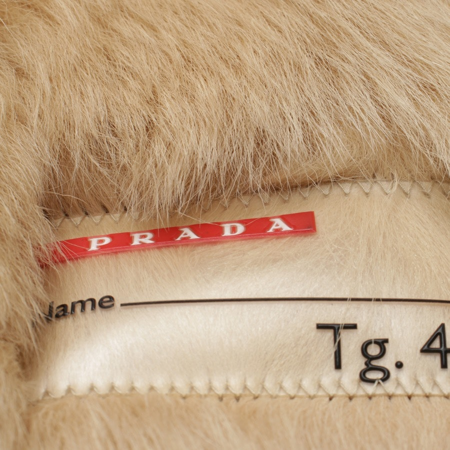 leather jacket from Prada Linea Rossa in beige and brown size 40 IT 46
