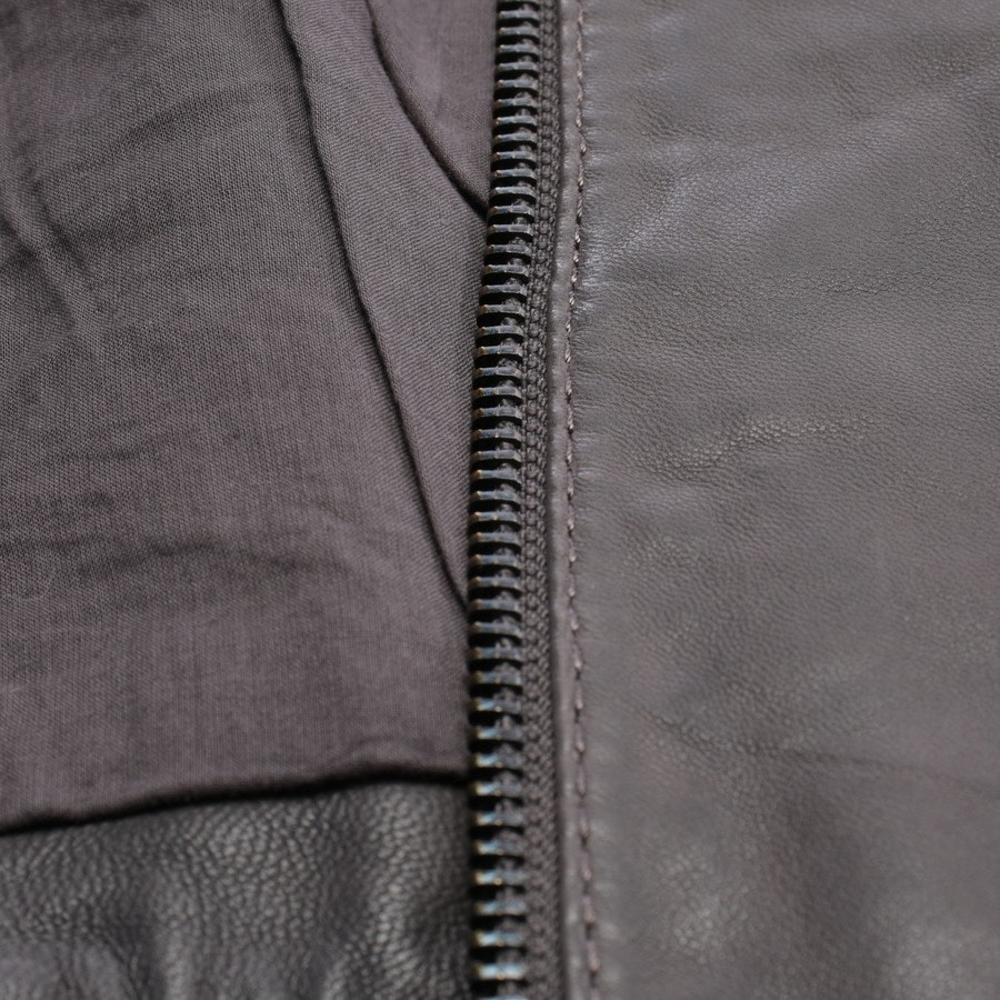 Lederjacke von Marc Cain Sports in Taupe Gr. 38 N3