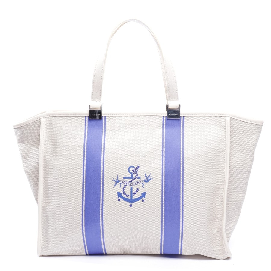 shopper from Longchamp in beige and blue