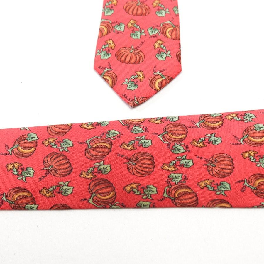Seidenkrawatte von Hermès in Rot und Grün