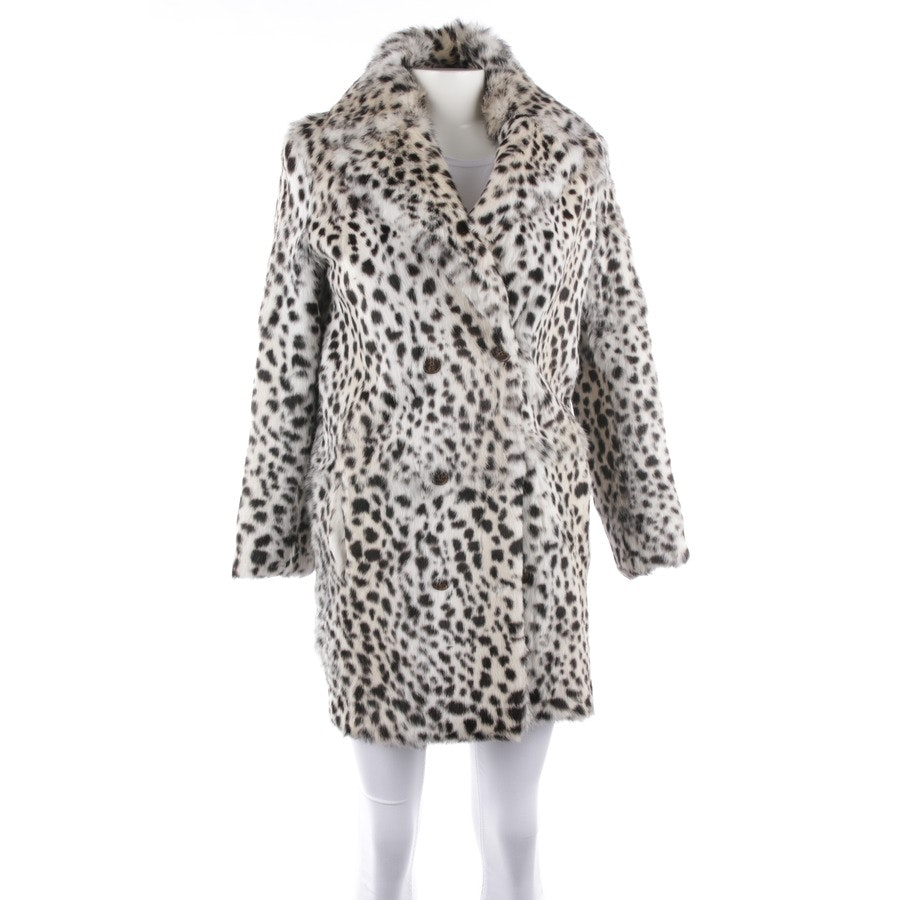 winter coat from Maje in white and black size 34 / 1