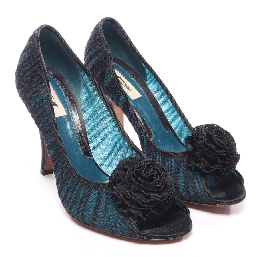 pumps from Love Moschino in turquoise size EUR 40