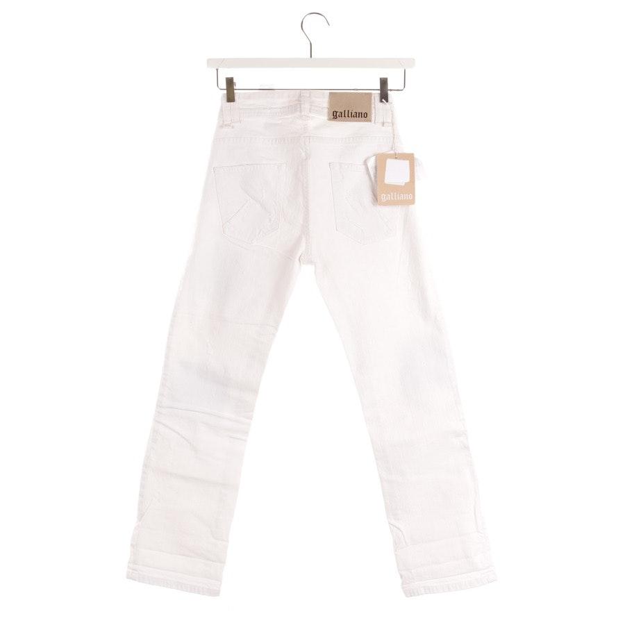 Jeans von John Galliano in Weiß Gr. W24 - NEU!