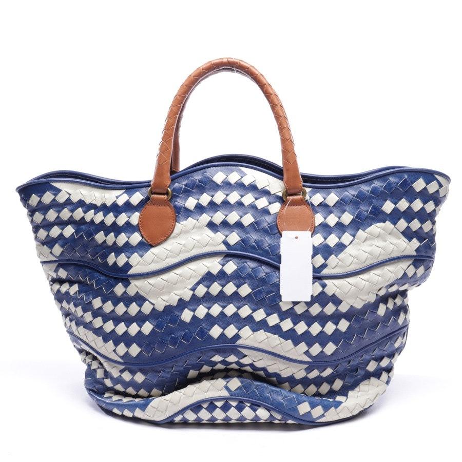 Shopper von Bottega Veneta in Blau und Weiß